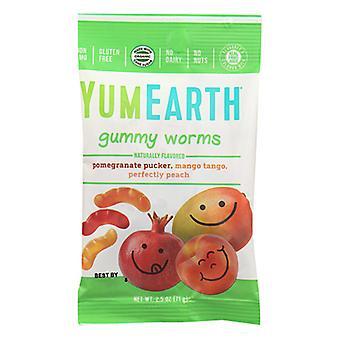 Yum Earth Gummy Worms, Case of 12 X 2.5 Oz