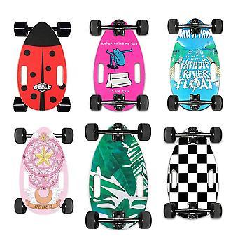 Skateboard Cruiser Mini Board Retro Beliebtes Ei Skateboard Ahorn 4 Rad Protable Bürgersteig Flach