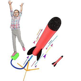 Lance-roquettes toy avec 2 fusées en mousse, amusant en plein air pour les enfants