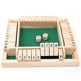 Neljän puolen floppi pelinumero peli lelut vanhempien ja lasten lautapeli (vihreä)