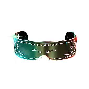 Occhiali led multicolori illuminano gli occhiali Cyberpunk per party rave festival