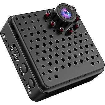 كاميرا صغيرة 4K 1080p HD 155 واسعة الزاوية عدسة لاسلكية واي فاي الرؤية عن بعد الكشف عن الحركة دفع التنبيه 4-6 ساعات تسجيل دائرة الرقابة الداخلية والروبوت متوافق (أسود)