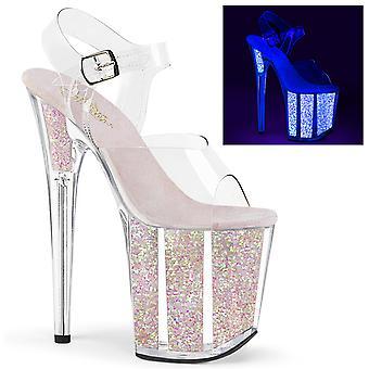 Pleaser Damen's Schuhe FLAMINGO-808UVG Clr/Neon Opal Glitter