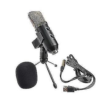 Microfono a condensatore USB, spina e riprodurre microfono per pc laptop, youtube studio video podcast