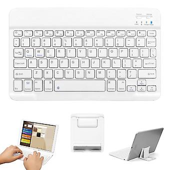 Tailiqi Ultra-thin Portable Wireless Bluetooth Keyboard Strong Compatibility White
