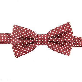 David Van Hagen Spotted Bow Tie - rood/wit
