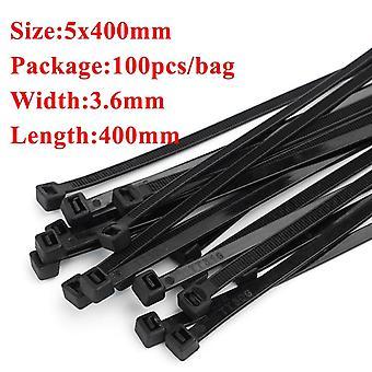 Пластиковая нейлоновая кабельная стяжка 100 шт черный 5x300 кабельная стяжка фиксирующая кольцо 3x200 кабель