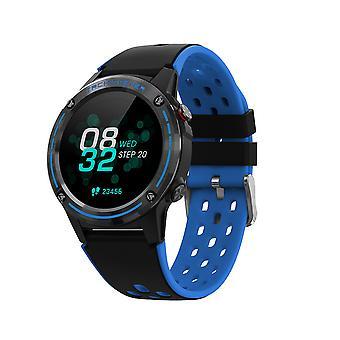 Smart Watch fitness tracker con cardiofrequenzimetro, IP68 impermeabile con controllo musicale GPS sport smart Watch per uomini e donne (blu)