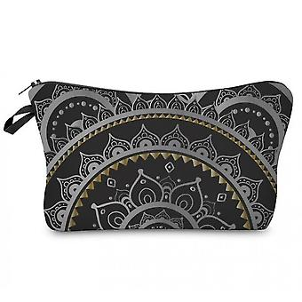 Cosmetic Bags For Women, Travel Toiletry Organizer With Zipper (mandala Flower Design)(Color5)
