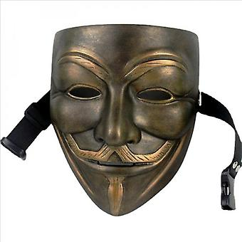 V For Vendetta Movie Resin Mask Halloween Costumes Cosplay Guy Fawkes Anonymous