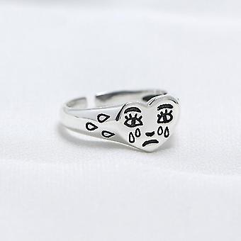 New Trendy Fashion Female Resizable Jewelry Ladies Creative Cry Face Rings