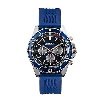 Breed Tempo Chronograph Strap Watch - Navy