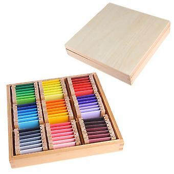 Sensorisches Material Lernen Farbe Tablet Box Holz Vorschule Spielzeug P15C|