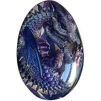 Lava Dragon Ägg Kristall Transparent Harts Lava Dragon Ägg Handgjord Skulptur Souvenir
