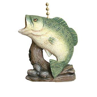 Gone Fishing Big Bass Decor Ceiling Fan Light Pull