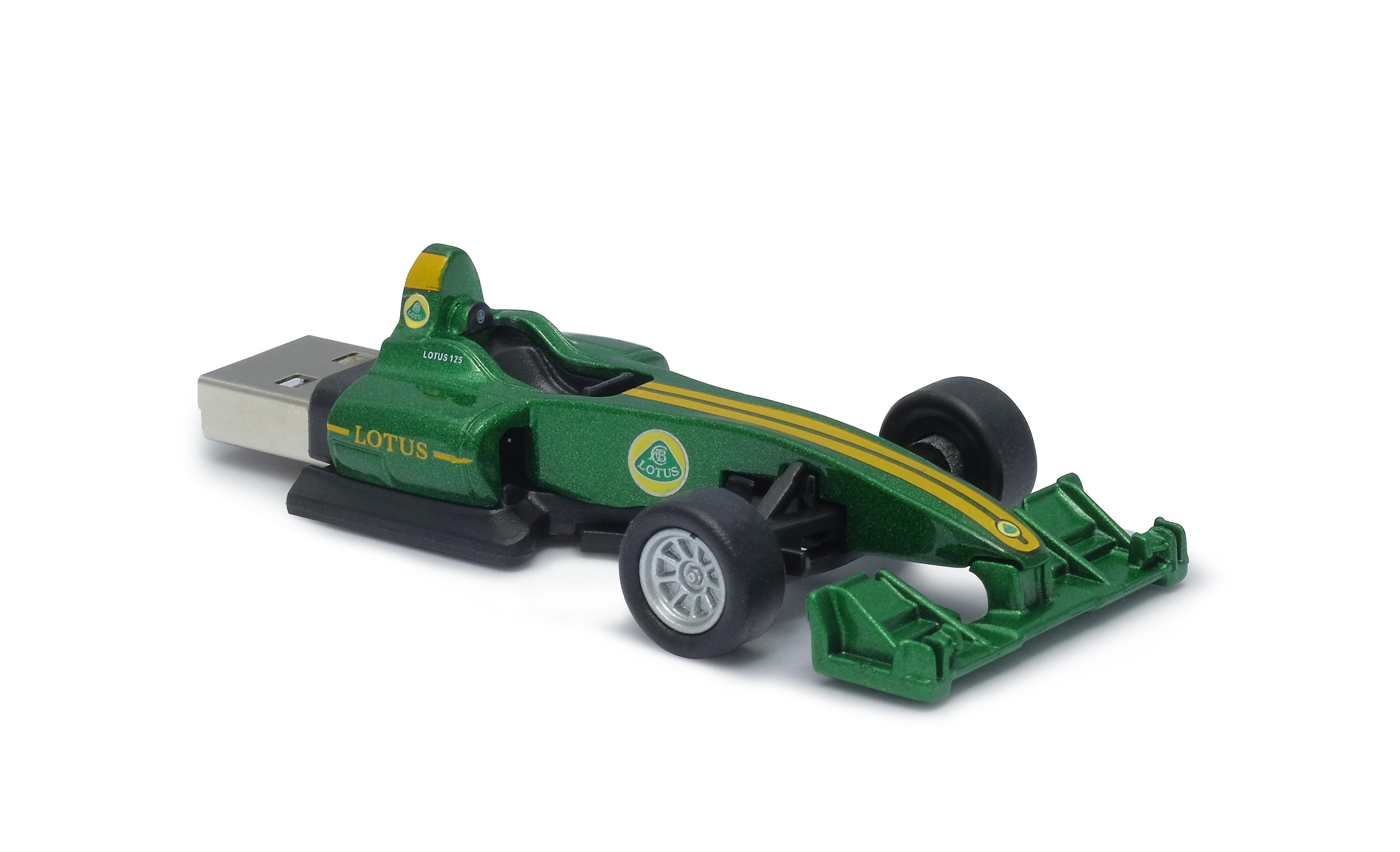 Official Lotus T125 F1 Racing Car USB Memory Stick 16Gb - Green