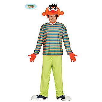 Orange Man Kostüm Orangene Puppe für Erwachsene one Size