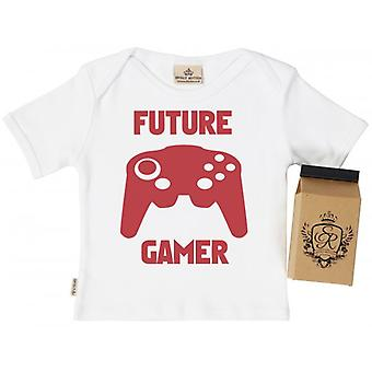 Spoilt Rotten Future Gamer Baby T-Shirt 100% Organic Cotton