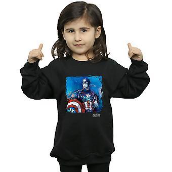 Marvel Mädchen Kapitän Amerika Kunst Sweatshirt