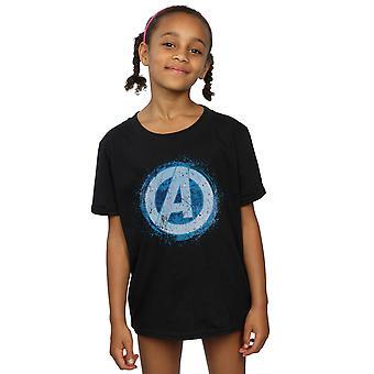 マーベルアベンジャーズ女の子輝くロゴ t シャツ