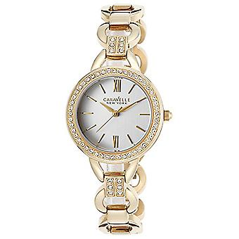 Caravelle New York Women's 44L162 Analog Display Analog Quartz Yellow Watch