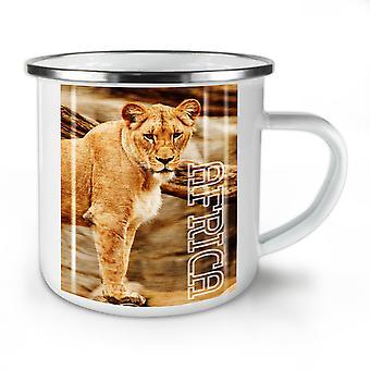Africa Lion Nature NEW WhiteTea Coffee Enamel Mug10 oz | Wellcoda