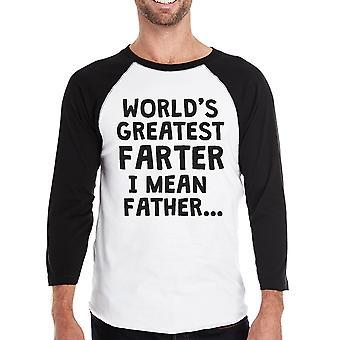 Farter I Mean Father Mens Raglan Shirt Filial Gift For Dad