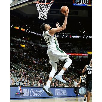 Giannis Antetokounmpo 2017-18 akcji Photo Print