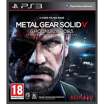 Metallivaihde Solid V Ground Zeroes (PS3) - Uusi