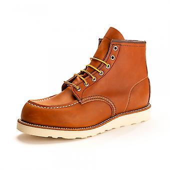 Ala vermelha vermelha ala 6 polegadas Moc Toe Mens Boot