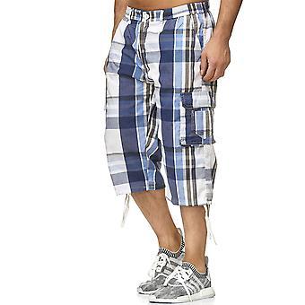 Mens Bermuda Leisure Shorts Summer Chequered Shorts Cargo Capri 3/4 Bags