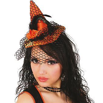 Vrăjitoare pălărie mini Hat Witch Hair clip voal Halloween