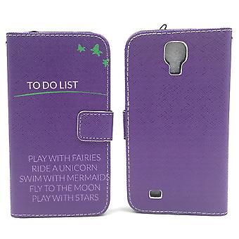 Mobile phone case pochette pour mobile violet Samsung Galaxy S4 TO DO LIST