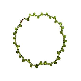 Collana di peridoto per signore James Green gold plated catena