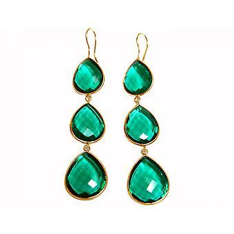 Gemshine Earrings 925 Silver Plated Tourmaline Quartz Green CANDY Drops