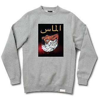 Diamond Supply Co Arabic Lady Crewneck gris chiné