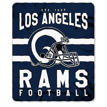 Los Angeles Rams NFL Northwest Team Stripe Fleece Throw
