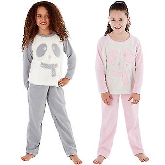 Selena Girl Kids Junior Warm Soft Fleece Cosy Sleepwear Pyjamas PJs Set