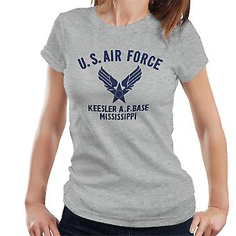 US Airforce Keesler AF Base Mississippi Navy Blue Text Women's T-Shirt