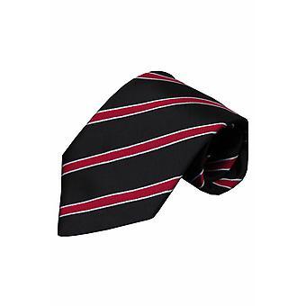 Zwarte zijden stropdas Imola 01