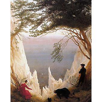 Chalk Cliffs on Rugen,Caspar David Friedrich,50x40cm