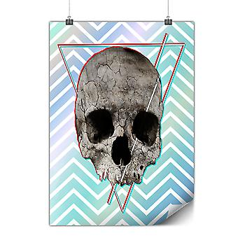 Matte or Glossy Poster with Abstract Rock Goth Skull | Wellcoda | *y2443