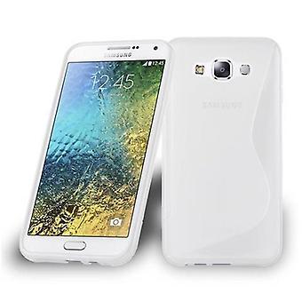 Custodia Cadorabo per Samsung Galaxy E7 2015 Case Cover - Custodia per cellulare in silicone TPU flessibile - Custodia protettiva in silicone Ultra Slim Soft Back Cover Case Bumper