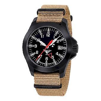 KHS watches mens watch black platoon GMT LDR KHS. BPGLDR. NT