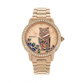 Bertha Madeline MOP Bracelet Watch - Rose Gold