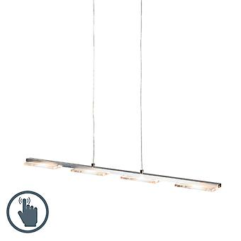 QA-QA Appeso lampada in acciaio con lastra di vetro incl. LED con dimmer - Vitro