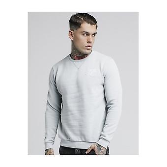 Sik Silk Light Grey Straight Hem Crew Sweater
