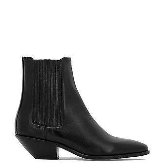 Saint Laurent 549214cy5001000 Women's Black Leather Ankle Boots
