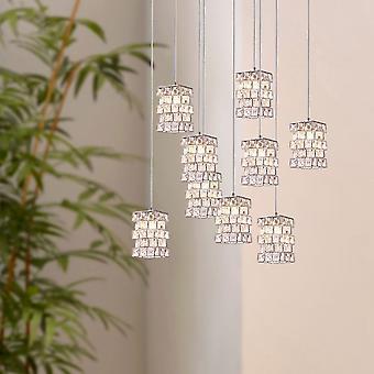 Moderne hanger licht industriële plafond armaturen kamer verlichting 9 hanger ronde luifel