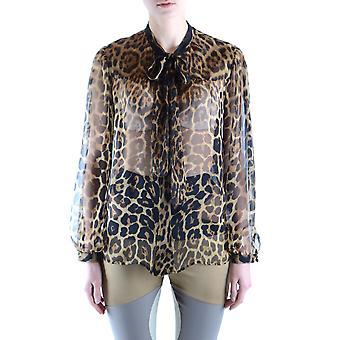 Saint Laurent Ezbc022024 Women's Leopard Silk Shirt